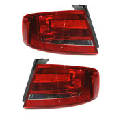 09-12 A4/a4 Quattro/s4 Outer Taillight Taillamp Rear Brake Lamp Light Set Pair