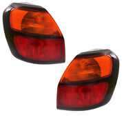 00-04 Outback Wagon Outer Taillight Taillamp Rear Brake Light W/bulb Set Pair
