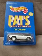 Hot Wheels Pat's Collectibles White '67 Camaro Limited Edition 1/7000