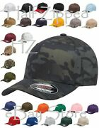 120 Flexfit Structured Twill Fitted Cap Baseball Hat 6277 S-2xl Wholesale