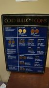 28 Tall X 20 Wide Gold Bullion Coins Display Krugerrand Gold Foil Not Real Coins