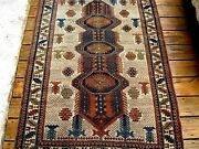 Amazing Antique 1900 Caucasian Shirvan Rug Fine Knots You Must See