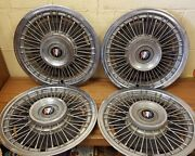 1971 - 1973 Buick 15 Wire Wheel Cover 1972 - 1039 - Set Of 4