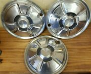 Set Of 3 - 13 808 1974-1975 Wheel Covers Hubcaps