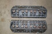 1957 Corvette Oem Pair Of 283 Fiexcept 283hp And 2x4 3740997 Heads - Restored