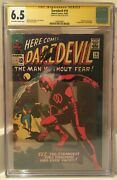 Daredevil 10 Signed Stan Lee 1st Appearance Of Ani-man Cgc Ss 6.5 1608369007