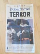 Rare 9/11/2001 Collectible News Paper Extra Edition Milwaukee Journal Sentinel