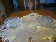 Mikasa Georgetown Crystal Diamond Cut And Fan Serving Bowland039s And Platters Set Of 4