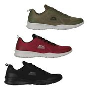 Mens Slazenger Running Sports Lace Up Grip Jigsaw Trainers Sizes From 7 To 12