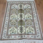 Yilong 2.5and039x4and039 Four Seasons Hand Knotted Carpet Silk Handmade Garden Rugs 211b