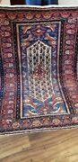 Antique 1900 Collectible Small Rug Full Pile Great Colors .