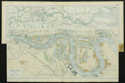 The Port Of London Showing Wharves And Docks. Thames. Vintage Map. Bacon 1913