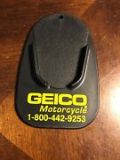 Motorcycle Kick Stand Pad, Coaster Or Puck With Geico Motorcycle Advertised