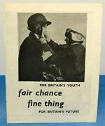 Vintage Trades Union Leaflet Youth Employment Job Opportunities Leaflet 1950s