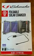 Schumacher Sp-100 10w Foldable Solar Panel Charger, Power Regulation, Chainable