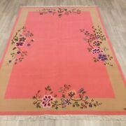 Yilong 5.5and039x8and039 Pink Hand Knotted Wool Rug Bedroom Chinese Art Deco Carpet Tj004