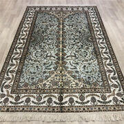 Yilong 5and039x8and039 Blue Home Handmade Silk Rugs Modern Art Hand Knotted Carpets 172ab