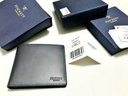 Hackett And039portlandand039 Wallet 595 Navy Billfold Leather Note Rrp Andpound99
