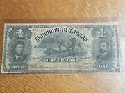 ➡➡1898 Dominion Of Canada 1 Inward 1s Ones Note Bill Courtney Dc-13a S/n 681810
