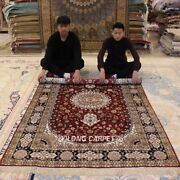 Yilong 5and039x8and039 Parlor Handmade Silk Carpets Medium Antique Hand-knotted Rugs 048m