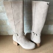 Koolaburra By Ugg Madeley Tall Amphora Equesttian Suede Boots Womens Us 8