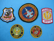 Us Army, Air Force, Navy And Marine Corps - Lot Colored Embroidered Patches