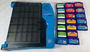 Original Leappad Pro Blue And Gray Learning System With Nineteen Leappad Games