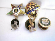 Vintage Masonic Eastern Star Sons Of Italy Order Of Eagles Pins Mixed Lot Of 5