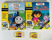 Lot Of 4 My First Leappad Game Cartridges Thomas And Dora The Explorer
