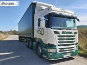 Low Bar + Leds For Scania P G R 6 Series 09+ Stainless Steel Front Bumper Guard