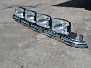 Roof Bar + Leds + Spot Lamps For Isuzu Npr Flat Cab Truck Front Stainless Steel