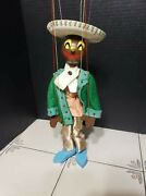 Vintage Marionette Mariachi Clown Spanish Mexican Sombrero Puppet