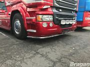 Truck Low Bar + Leds For Scania P G R Series Pre 2009 Front Spoiler Bumper Lobar