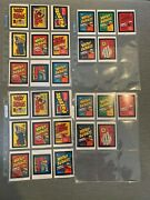 Wacky Packages Old School 4 Wrappers Ads Stickers Set Ludlow And Tan Backs