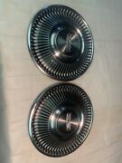 Vintage Set Of 2 1968 Ford 14 Hubcaps Fairlane Falcon 67 69 70