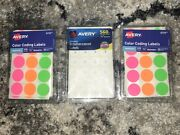 2 Avery Color Coding Labels 1 Reinforcement Yard Sale Label/stickers