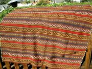 Antique 1900 Uzbek Jajim Bad Cover Great Colors All Over 5and0392 X 5and0392