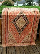 Antique 1890- 1900 Persian Fine Senah Kelim 6and0391 X 4and0391 Great Colors