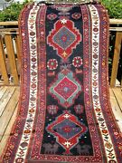 Antique Caucasian Dated Kazak 1331 Which Is 1913 Great Colors 11and0398 X 4and0392
