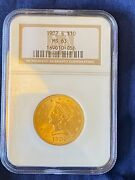 1902-s 10 Uncirculated Liberty Head Gold Eagle Ngc Ms-63