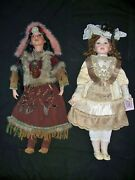 2 30 Porcelain Dolls Cathay Native American And Collectible Memories Victorian