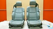 2008-2013 Bmw E93 M3 M Convertible Pa Silver Novillo Leather Front Seat Pair Oem