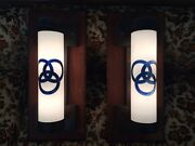 Two Vintage Original Ballantine Beer Cylinder Wall Lights Local Pickup Only