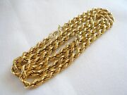 18k Gold - 25 1/4 Inch Rope Style Chain