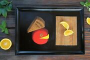 """Vintage Couroc Of Monterey 15-3/8"""" French Cheese Board Tray Mid Century"""