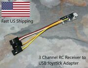 Rc Car Receiver To Usb Joystick Adapter - 3 Channel Version - Works With Vrc Pro