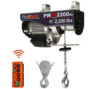 Prowinch 1 Ton Electric Wire Rope Hoist 2000 Lb Load Capacity Crane With Wireles
