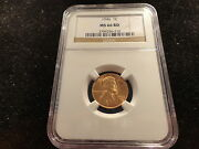 1946 Lincoln Wheat Cent 1c Ngc Ms-66 Rd- Very Crisp- Very Red- Best Buy