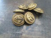 Antique Vintage Metal Buttonsandnbspnavy Marines Lot Of 6 Small Size Anchor Gold