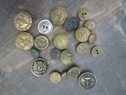 Antique Vintage Metal Buttonsandnbspnavy Marines Lot Of 21 Mixed Sizes Anchor